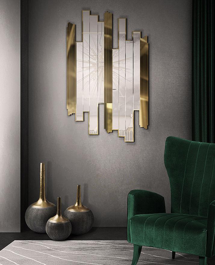 Wandmontierter Spiegel für Badezimmer / Wohnzimmer / modern ...