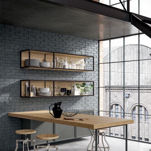 Wandmontiertes Regal / modern / Holz / für Küchen - ETICA ...