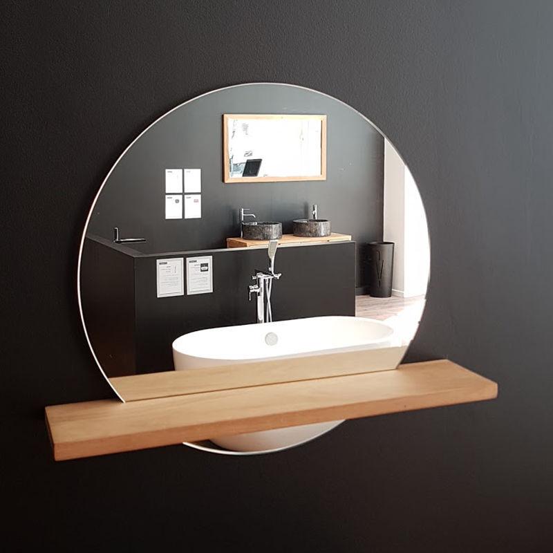 Wandmontierter Spiegel Fur Badezimmer Bali Stano Mit Regal Modern Rund