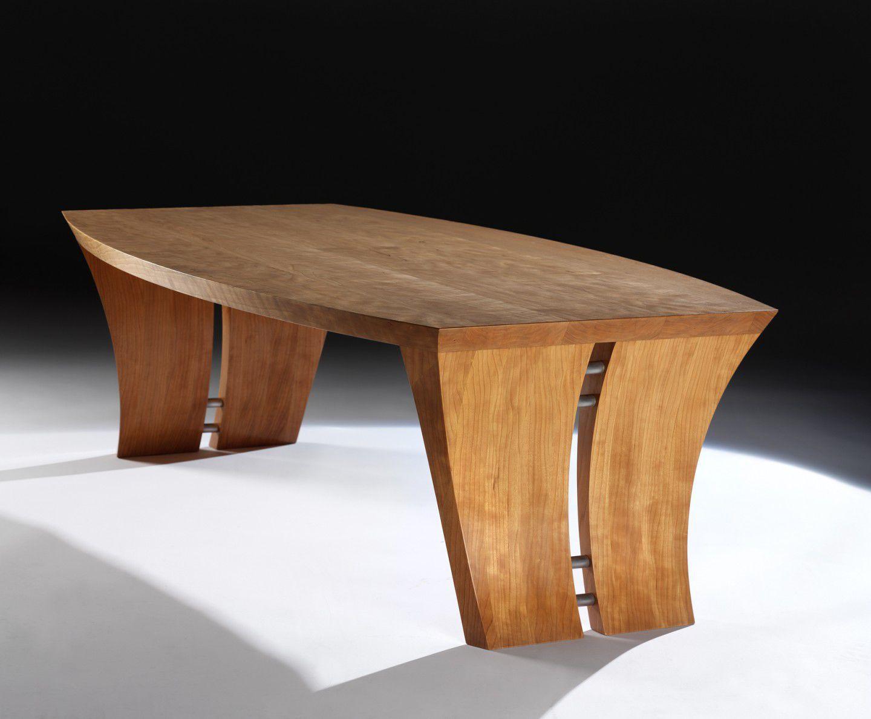 Moderner Couchtisch   CHARLOTTE   David Tragen   aus Kirschbaum / rechteckig / Innenraum