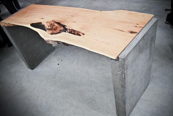 Favorit Holz-Schreibtisch / Beton / Industriedesign - LIVE EDGE LOCUST GL58