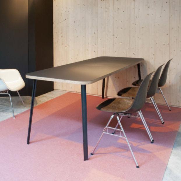 Moderner Tisch CANTEEN Faust Linoleum Linoleum mit