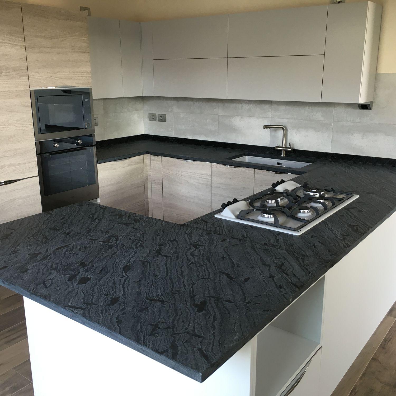 Quarzit-Arbeitsplatte / für Küchen / grau - QUARZITE IRON ...