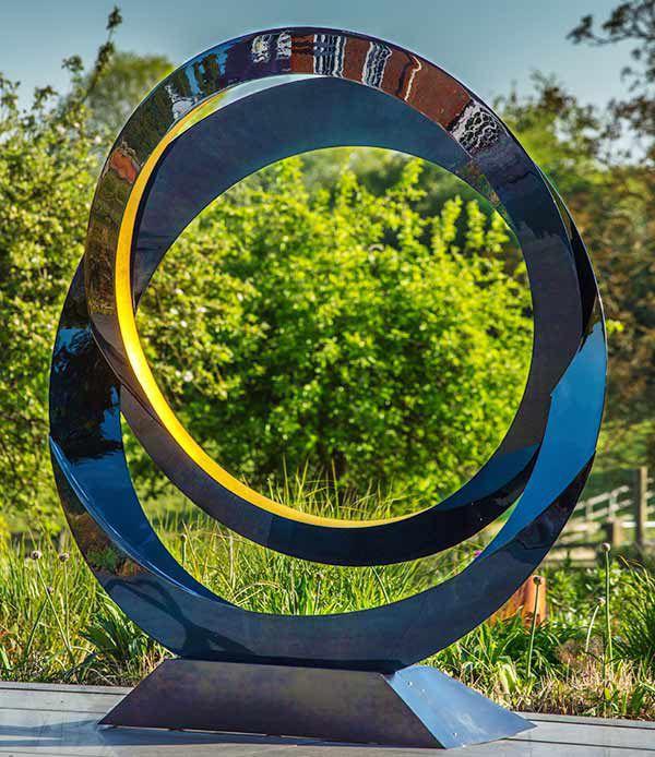 Edelstahl-Skulptur / Garten / für öffentliche Bereiche - ECLIPSE ...