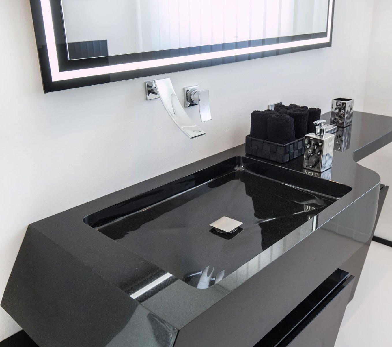 Wand-Waschbecken / rechteckig / Granit / modern Luis Design