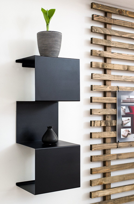 Wandmontiertes Regal / modern / Stahl / für Badezimmer - S ...