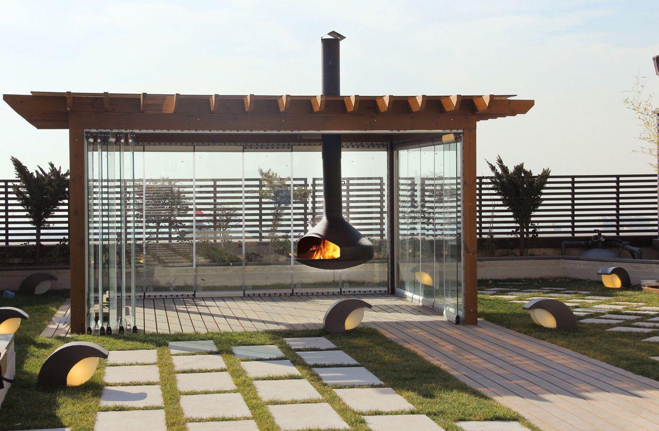 Aussenkamin Ergofocus Focus Holz Modern Offene Feuerstelle