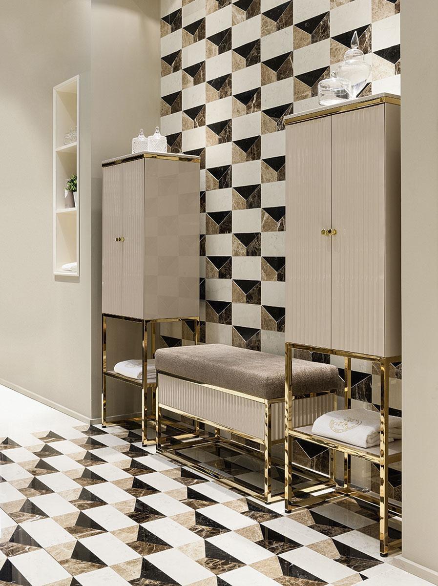 Säulenschrank für Badezimmer / Art Deco - ACADEMY - Oasis ...