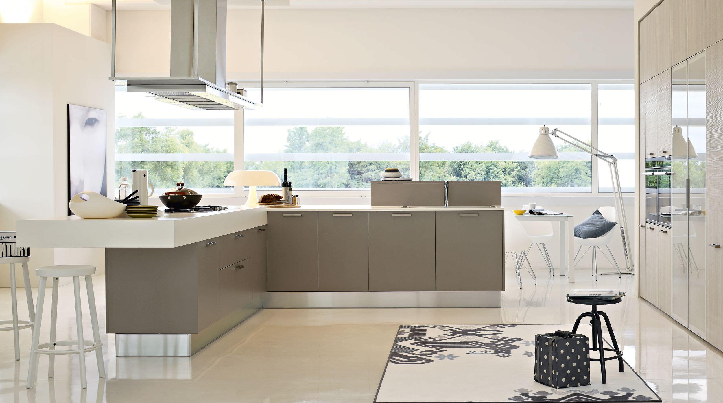 Moderne Küche / Laminat / mit Griffen - EKO - Pedini