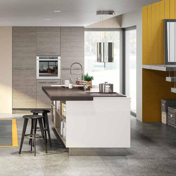 Moderne Küche / Laminat / Kochinsel / lackiert - SUNNY - BERLONI