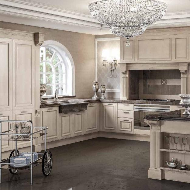 Klassische Küche / Holz / U-Rohr / lackiert - GRANGALA - BERLONI