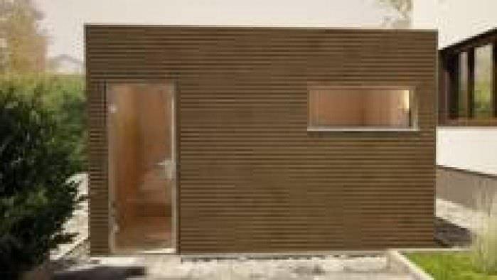 Turbo Sauna für Privatgebrauch / Holz / Fertigbau / für den Außenbereich IX68