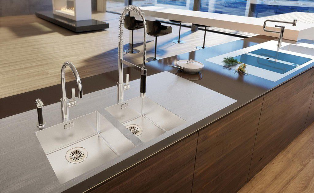 Edelstahl-Arbeitsplatte / Küchen SOLIDART Suter Inox AG