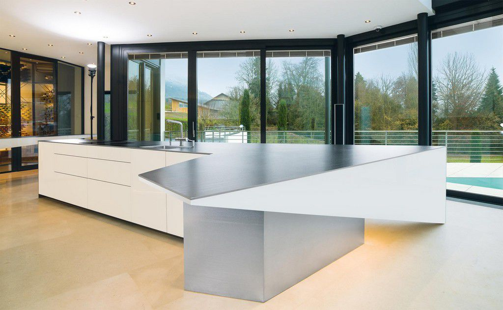 Edelstahl-Arbeitsplatte / Küchen - ICEDESIGN - Suter Inox AG ...