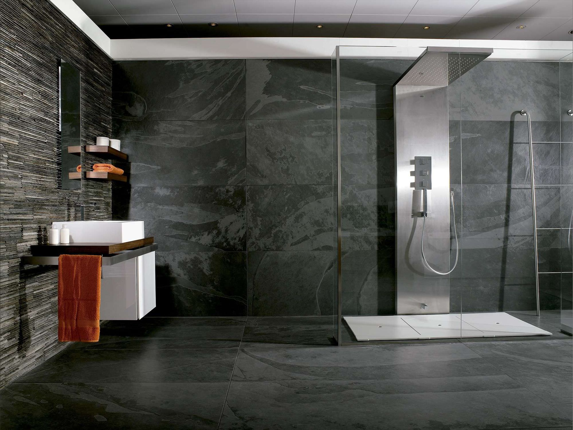 Innenraum-Fliesen / Badezimmer / Wand / Schiefer - PATAGONIA ...