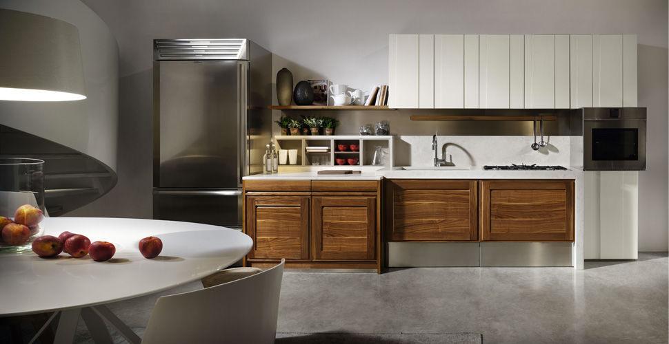 Moderne Küche / aus Nussbaum / ohne Griff - CANALETTO - L ...
