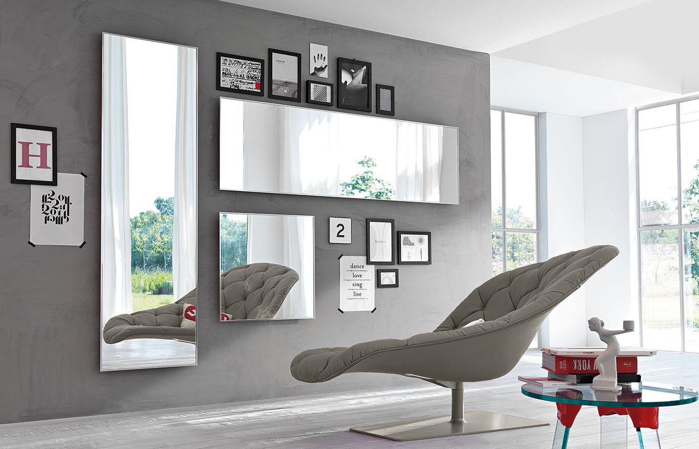 Wandmontierter Spiegel - MIRAGE - FIAM ITALIA - Wohnzimmer