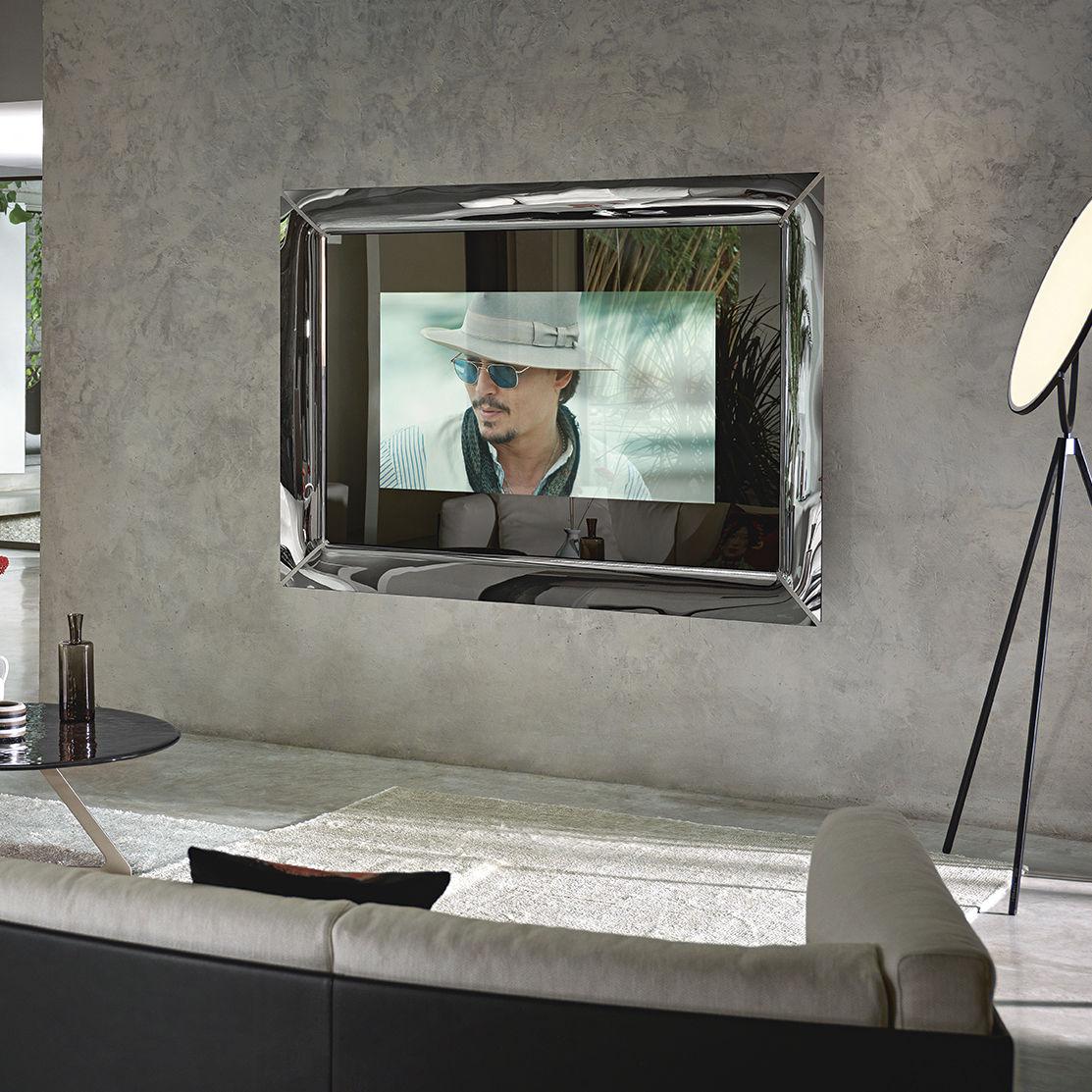 Wandmontierter TV-Spiegel - CAADRE - FIAM ITALIA - Wohnzimmer