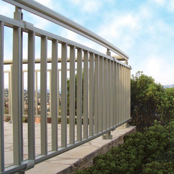 Balkon mit Stangen / Metall - ROMA - METRA