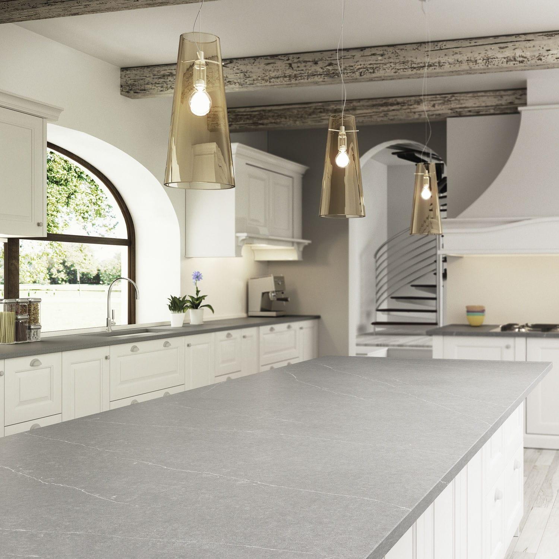 Silestone®-Arbeitsplatte / Küchen / weiß / grau - SERENA - Cosentino