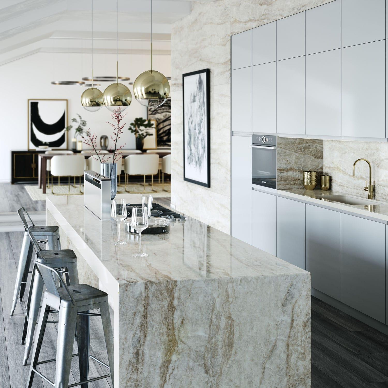 Naturstein-Arbeitsplatte / Küchen - ARGA - Cosentino