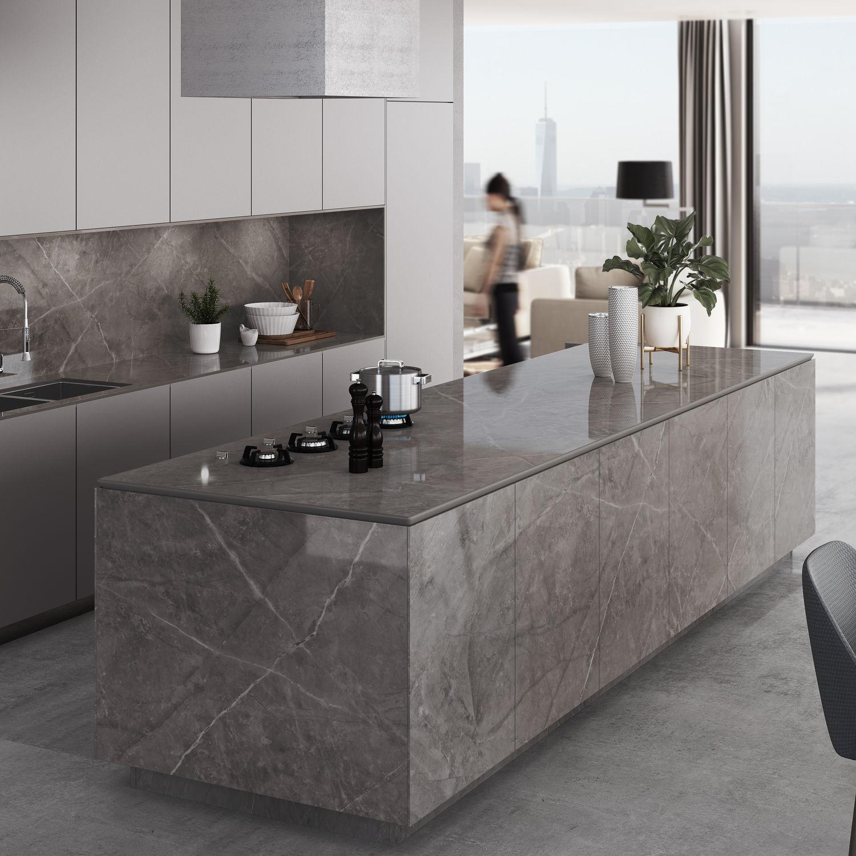 Naturstein-Arbeitsplatte / Küchen / grau - KORSO - Cosentino
