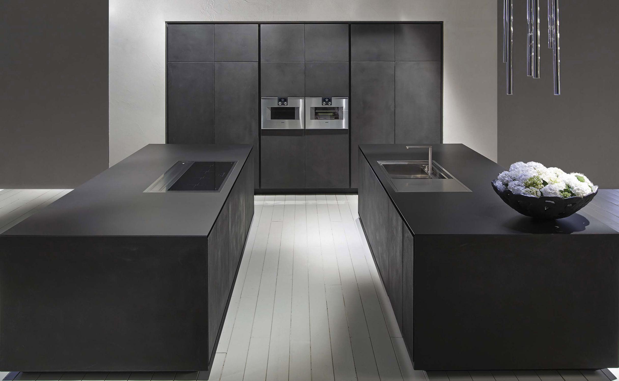 Moderne Küche / aus Corian® / Beton / Kochinsel - ONE - RI.FRA ...