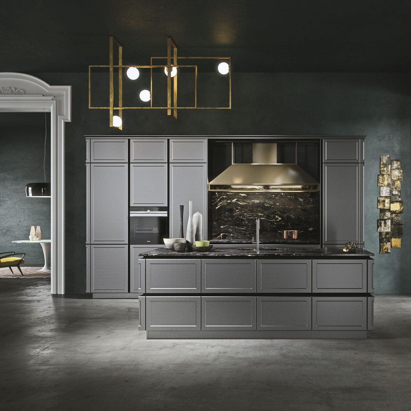 Klassische Küche / Holz / Modul / Kochinsel FRAME by Iosa Ghini Design  SNAIDERO RINO SPA