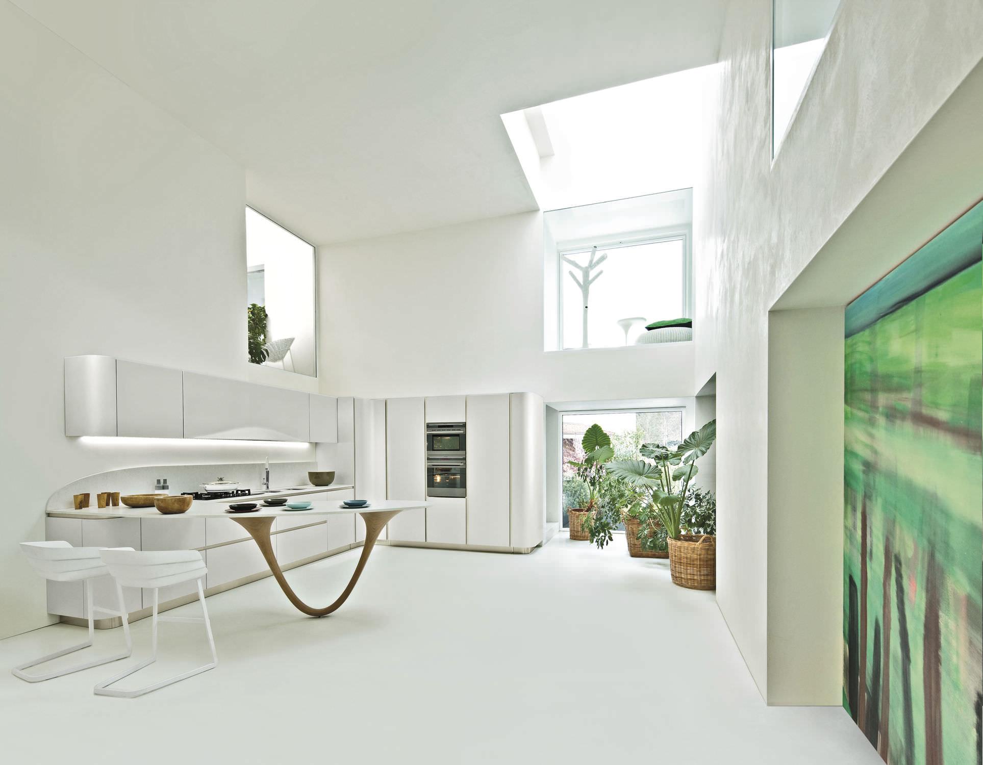 Moderne Küche / Holz / Kochinsel / lackiert OLA 20 by Pininfarina Design  SNAIDERO RINO SPA