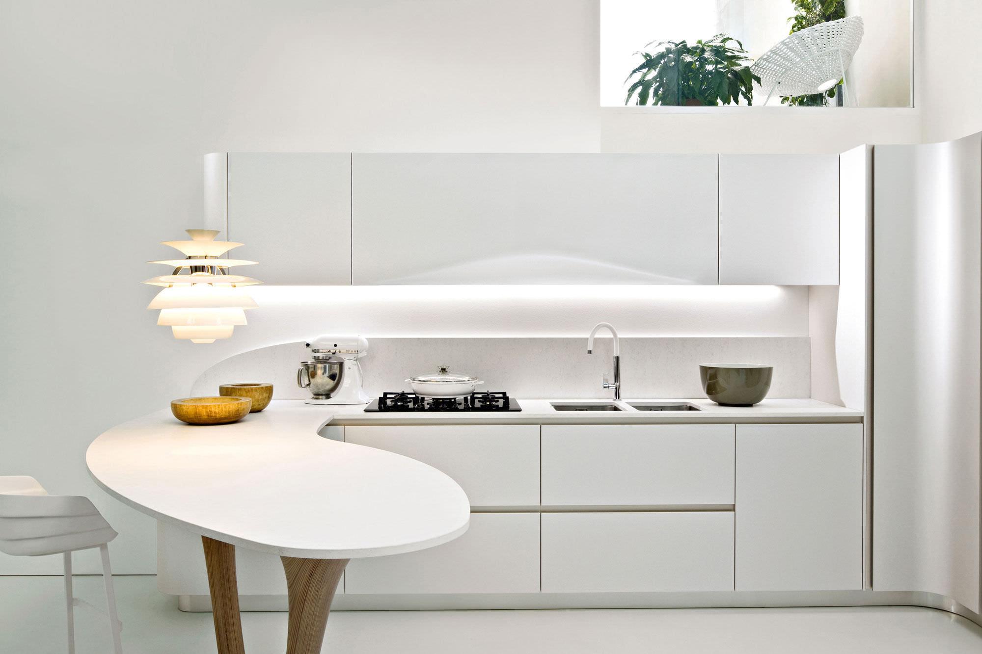 Moderne Küche / Holz / Kochinsel / lackiert - OLA 20 by ...
