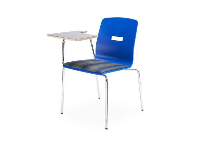 Moderner Stuhl Mit Schreibplatte Stahl Kunststoff