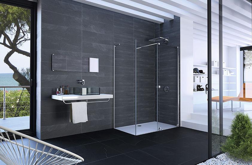 Extrem Begehbare Dusche / Glas / rechteckig / Schiebetüren - XTENSA PURE EA27