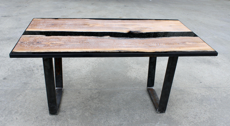 Moderner Couchtisch Holz Aus Harz Epoxid Black