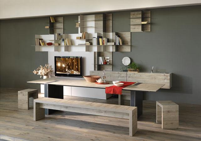 Moderner Esstisch Holz Rechteckig Alvin Olivieri