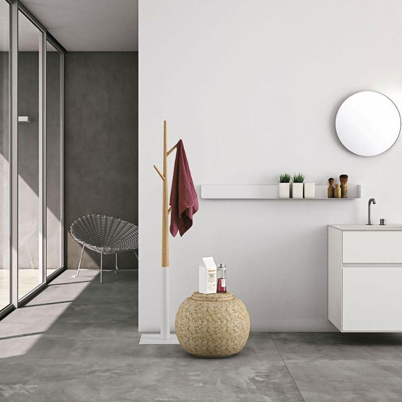 Wandmontiertes Regal / modern / Holz / für Badezimmer - ARIA ...