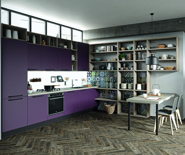 Moderne Küche / Polymer / Kochinsel / matt - FARO - ARAN Cucine