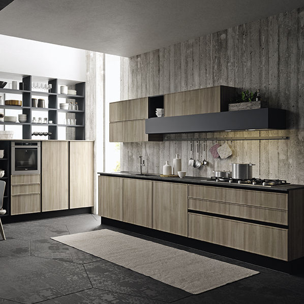 Moderne Küche / Polymer / Kochinsel / Öko - QUADRO - ARAN Cucine