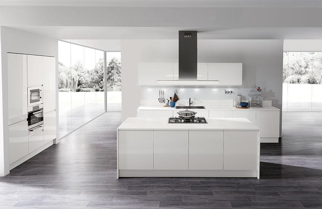 Moderne Küche / Melamin / Kochinsel / lackiert - MASCA ...
