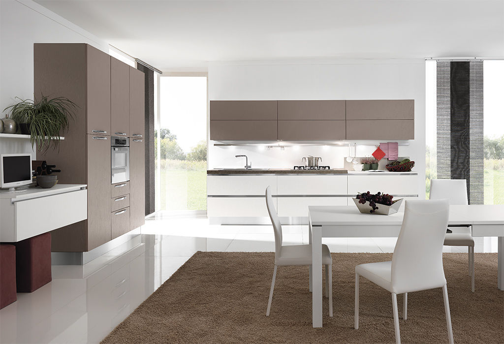Moderne Küche / Laminat / Polymer / Kochinsel - TERRA - ARAN ...