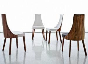 Moderner Stuhl Polster Aus Nussbaum