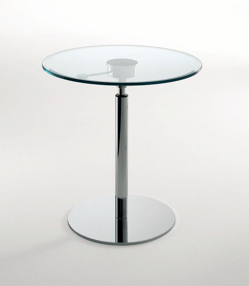 Stehtisch Rund Glas.Moderner Stehtisch Glas Rund Höhenverstellbar Cayman