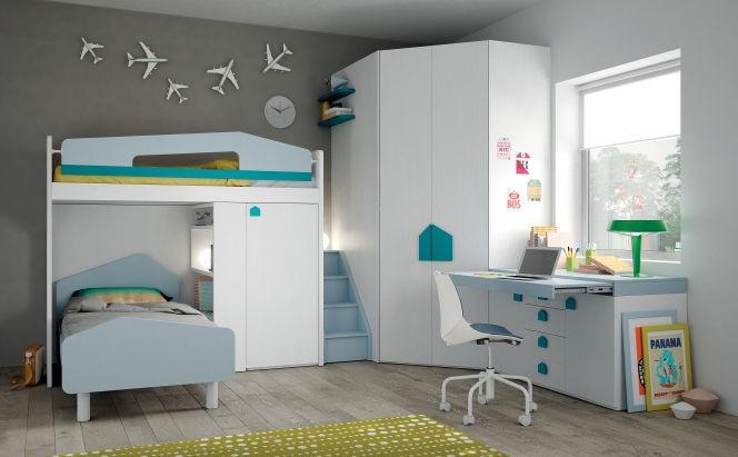 Weißes Kinderzimmer - EVO 27 SALVASPAZIO - Mistral