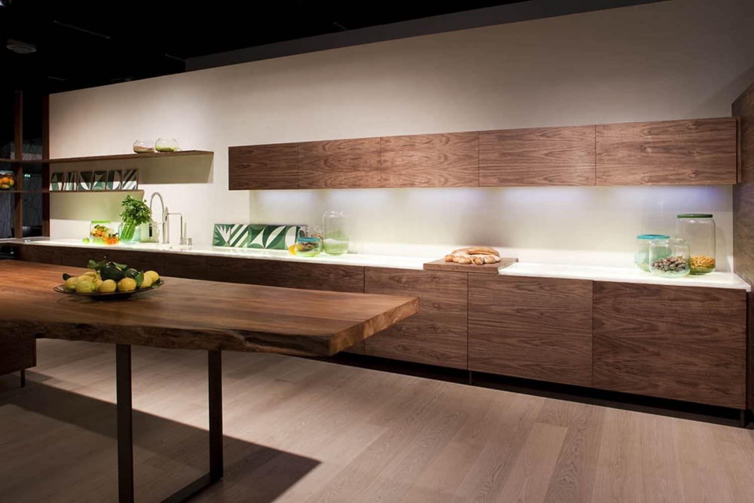 Moderne Küche / Holz / Kochinsel / ohne Griff - LA CUCINA by ...