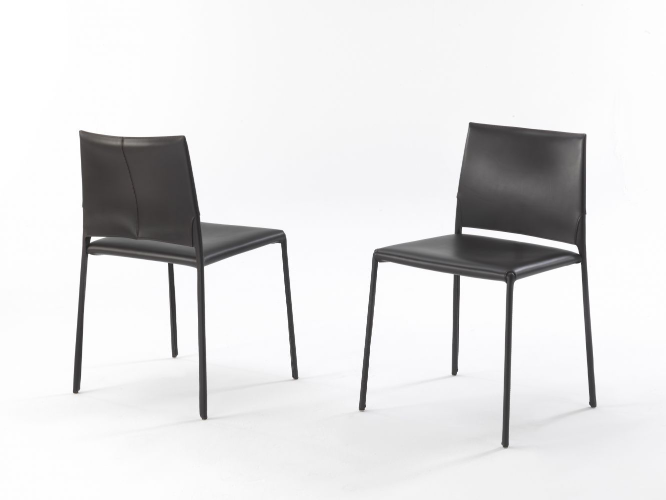 Moderner Stuhl Metall Leder Von Claudio Bellini Kau