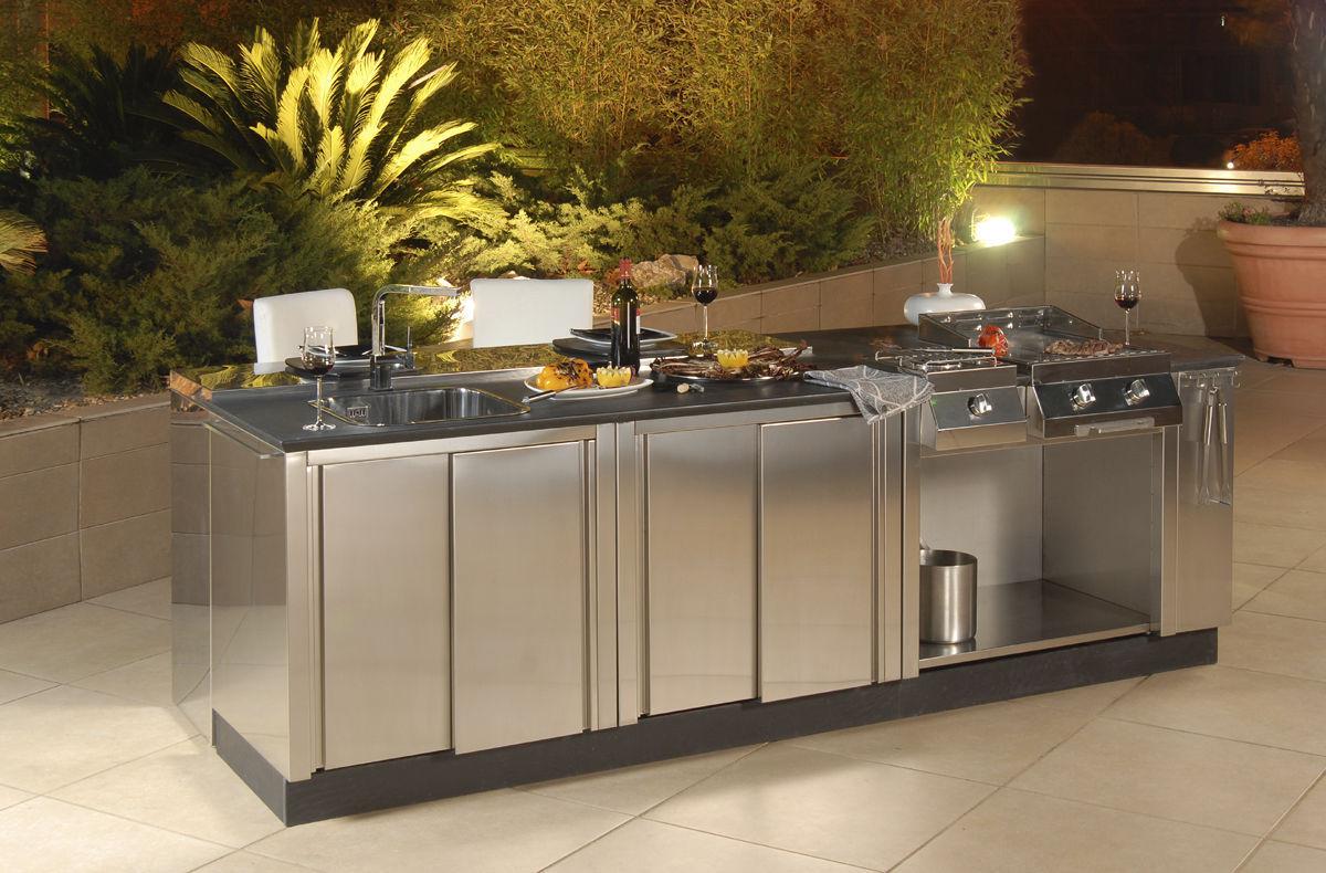 Edelstahl Kuche Outdoor Kitchen 4 Bianchi Group Srl Aussenbereich Ohne Griff