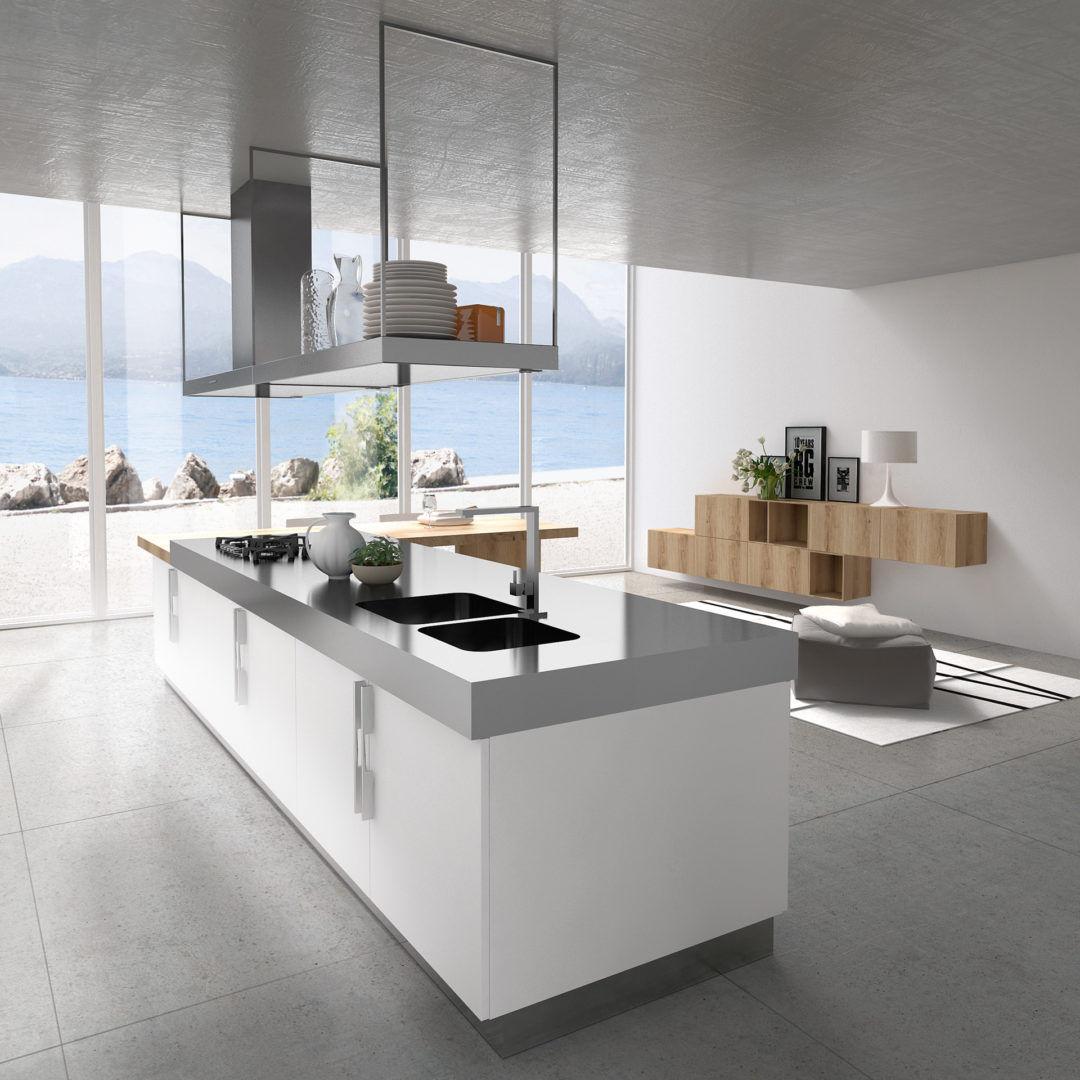 Moderne Küche / Holz / Melamin / Kochinsel - YPSILON ...