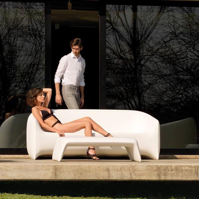 Sofa / originelles Design / Garten / Polyethylen / 2 Plätze ...