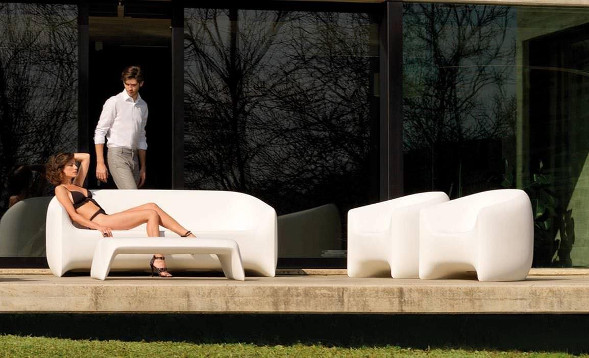 Moderner Sessel / Polyethylen / 100% recycelbar / Garten ...