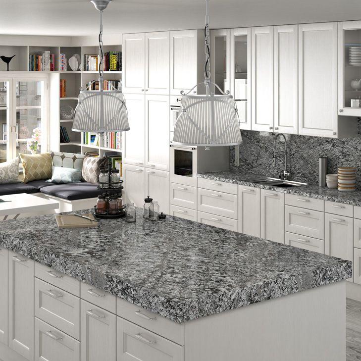 Granit-Arbeitsplatte / Küchen / fleckenabweisend / antibakteriell WHITE &  GREY : LENNON BY NATURAMIA® COLLECTION Levantina