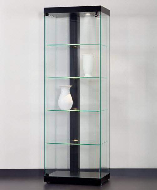 Moderne Vitrine / Glas / Aluminium / beleuchtet - LINEA 60 ...